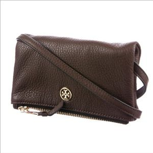 Tory Burch pebbled Leather fold over crossbody